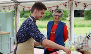 Did he make the semi-final? ... Henry and Prue in The Great British Bake Off.
