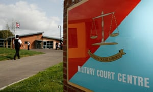 The Bulford military court centre in Salisbury, England