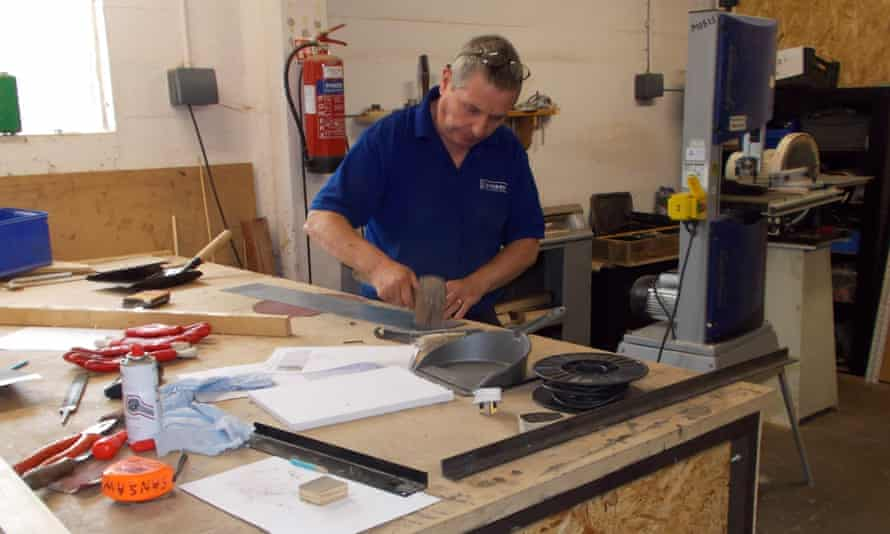 At work in the Sansaw men's shed.
