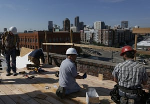 Construction workers in Denver