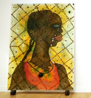 No Woman No Cry, Ofili's tribute to Stephen Lawrence's family, 1998