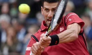 Novak Djokovic in the French Open