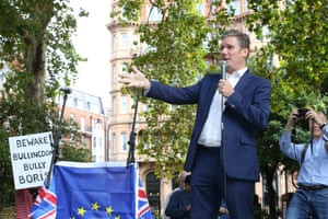 Keir Starmer Labour MP for St Pancras and Holborn speaks at the Russell Square Rally against Brexit.