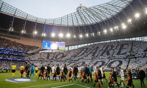Tottenham's stadium, here about to host a Champions League game against Ajax, opened this year.