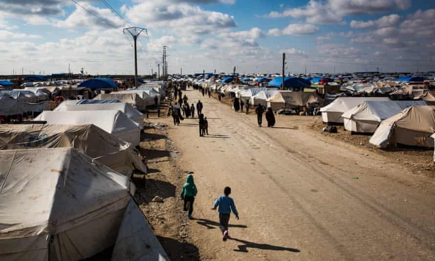 The al-Hawl camp in Baghuz, Syria
