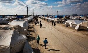 Al-Hawl refugee camp in Syria.