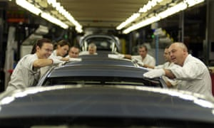 Workers at the Honda plant in Swindon, Wiltshire.