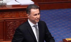 Macedonia's former prime minister Nikola Gruevski.