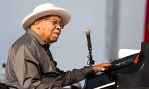 Ellis Marsalis performing at New Orleans Jazz and Heritage festival, May 2017.