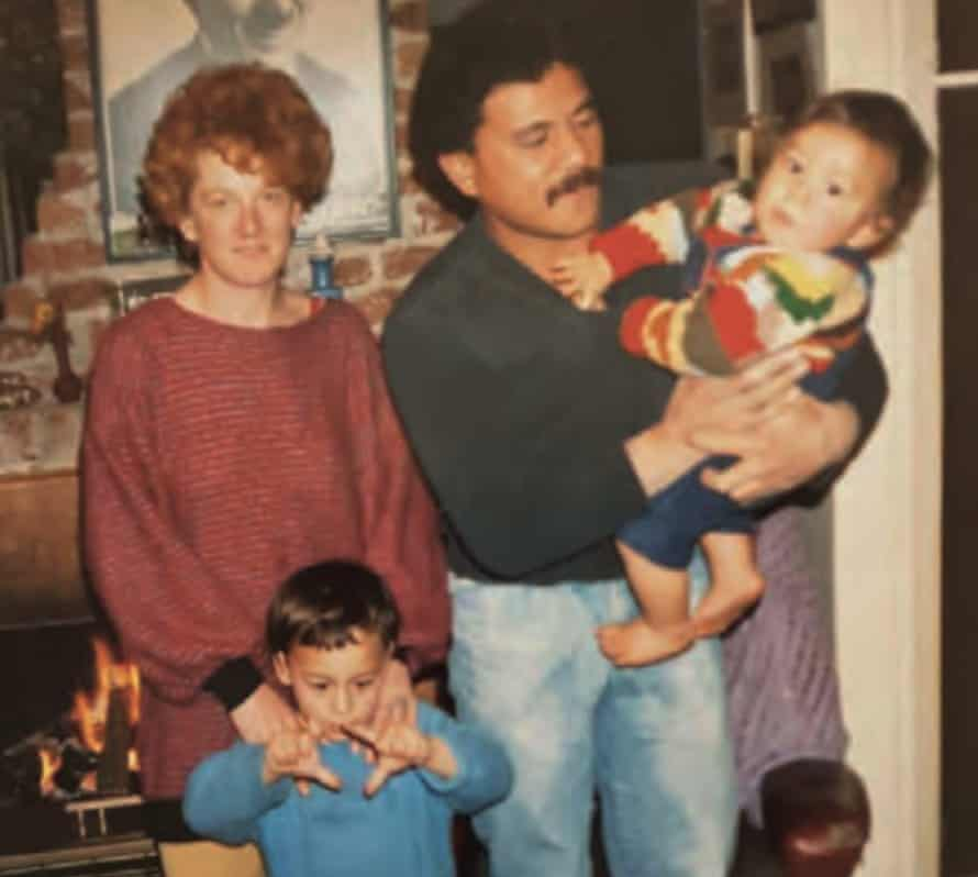 Sonny Bill with his Mum, Dad and older brother Johnny.