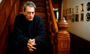 There was a time when Paul Auster, pictured at his Brooklyn home, seemed to regard narrative momentum as an offence to the duties of meta-fiction. That's not the case with 4321