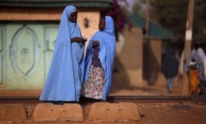 Two Muslim girls in Zaria, Nigeria