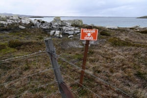 A mined beach in Stanley