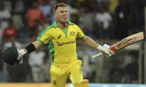 David Warner struck an unbeaten 128 from 112 balls, including three sixes and 17 fours.
