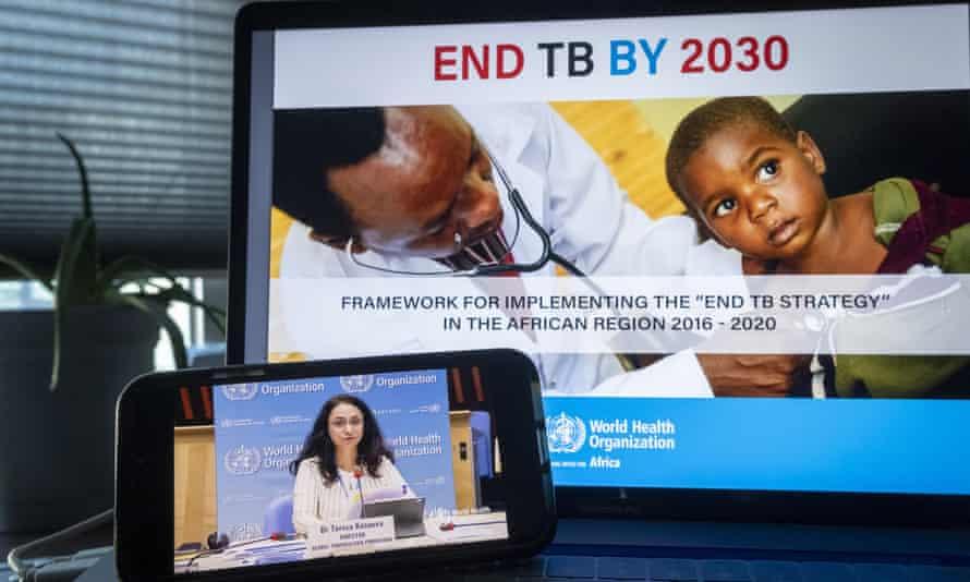 Tereza Kasaeva, director of the World Health Organization's global tuberculosis programme, addresses a UN event