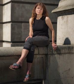 Liz Clegg, a volunteer who has been helping Norzai