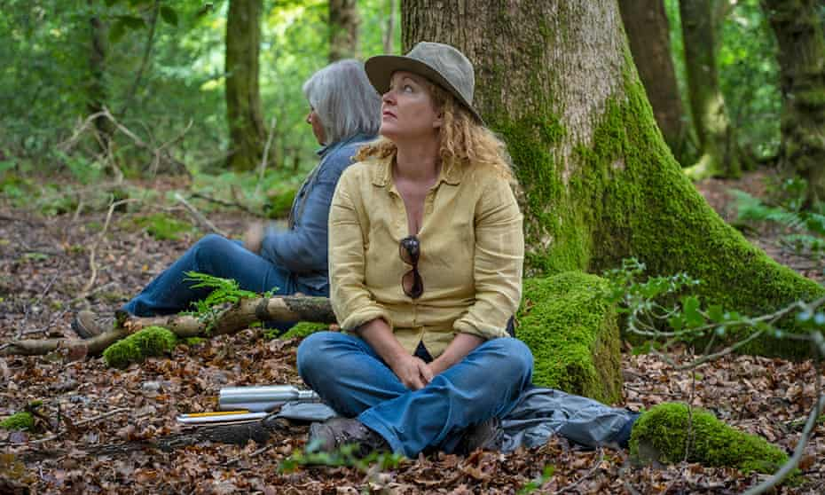 Carol Donaldson in the woods of the Wye valley, Wales