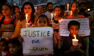 A candlelit march in protest against the rape and murder of an eight-year-old girl in Jammu in January