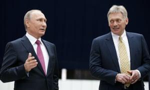 Vladimir Putin S Spokesman In Hospital With Coronavirus World News The Guardian