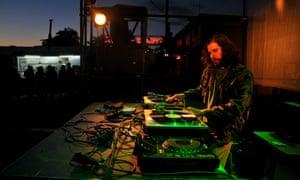 DJ at La Station, a platform for emerging local music