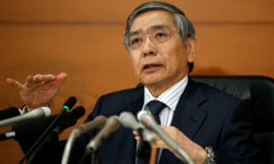 BOJ Governor Kuroda at a news conference at the BOJ headquarters in Tokyo today.