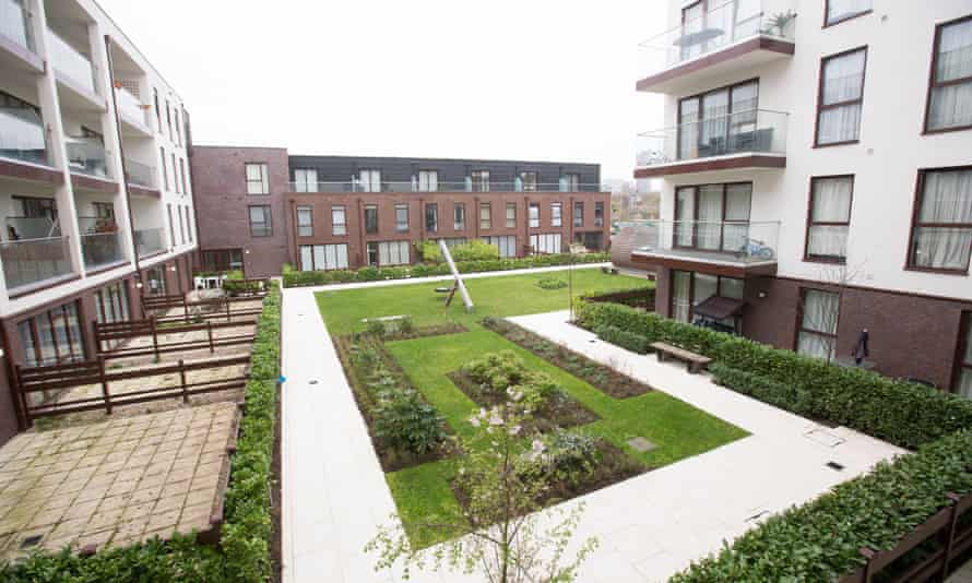 The playground at Baylis Old School development in south London