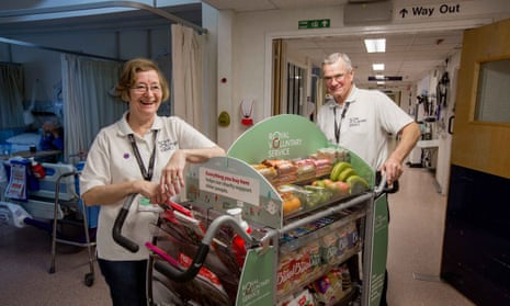 Volunteers at Frimley Park hospital