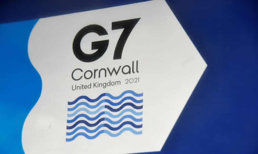 G7 signage in Cornwall