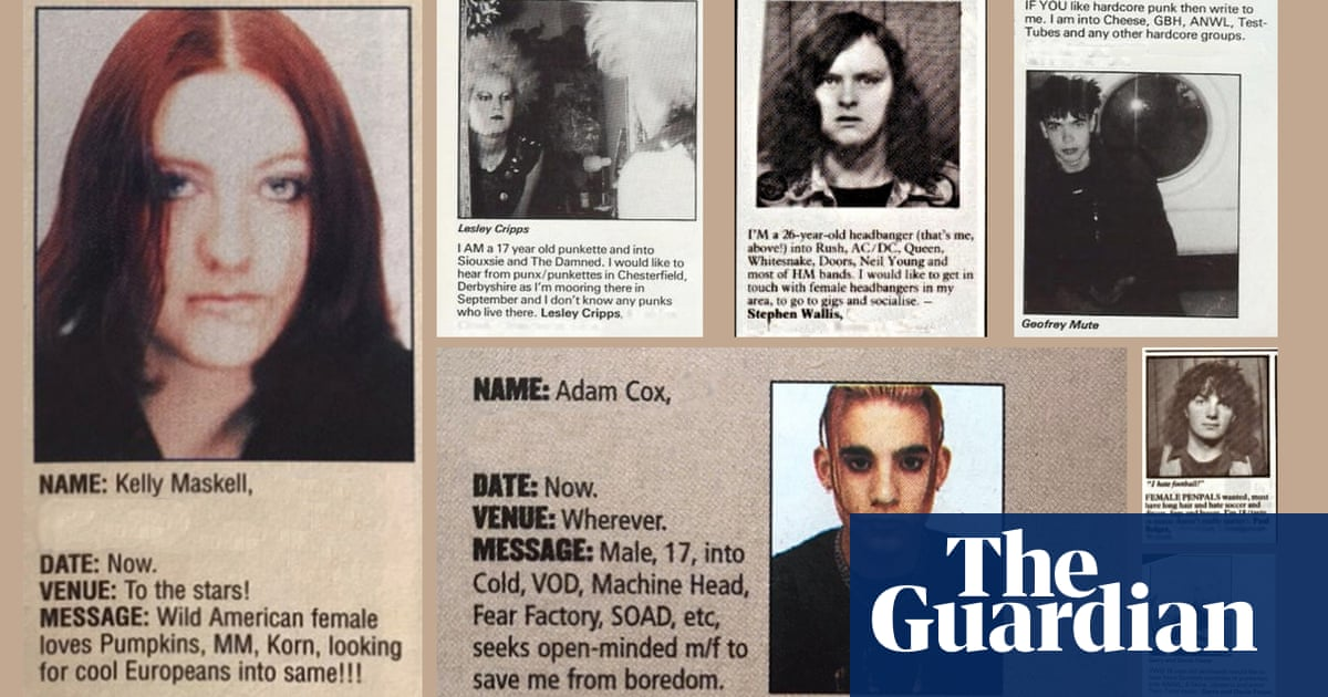 Desperately seeking headbangers: the lonely hearts who found love in the back pages