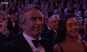 Steve Coogan during Joanna Lumley's opening monologue.