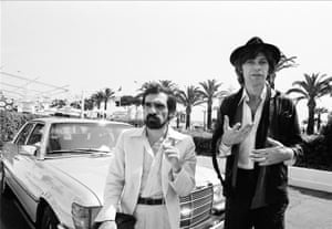 Inseparable … Robertson with Martin Scorsese.