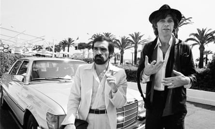 Martin Scorsese and The Band's Robbie Robertson at Cannes to screen The Last Waltz at Cannes in 1978