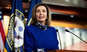 House speaker Nancy Pelosi speaking at her weekly press conference today.