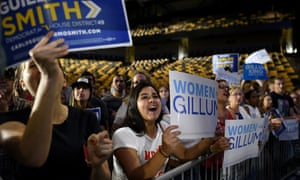 Florida voters for Gillum at a rally in Orlando earlier this week.