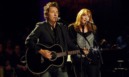 Springsteen and Patti Scialfa during an acoustic performance in 2005.