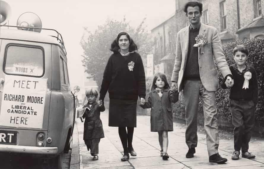 The Moore family, including mother Ann and father Richard, campaigning for the Liberal party in 1964.