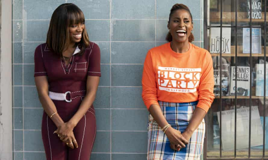 Yvonne Orji and Issa Rae in Insecure.
