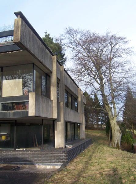 The studio for Bernat Klein, High Sunderland, Selkirk, 'a potent inverted ziggurat of a pavilion'.