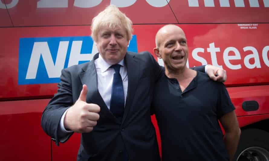 Hilton with Boris Johnson. He knew supporting the Brexit leave campaign would make Cameron 'really cross'.
