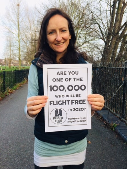 Anna Hughes, who run a no-flying campaign in the UK