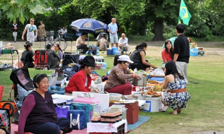 The park has become a useful meeting place for city's Thai community.