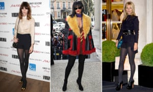Alexa Chung, Rihanna and Kate Moss in black opaques