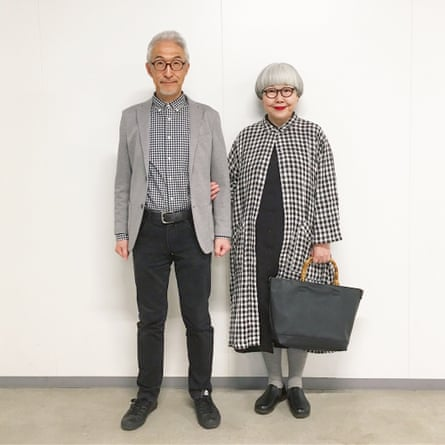 'Bon' and 'Pon' in gingham.