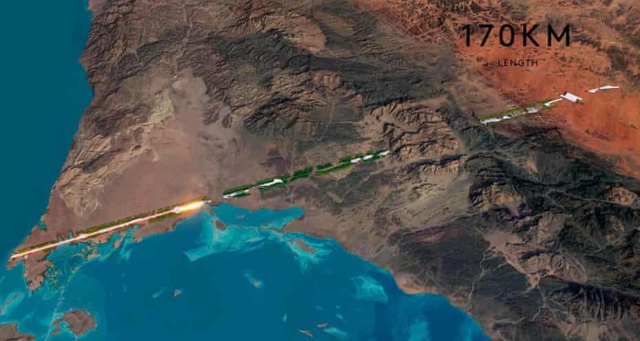 Deja vu … a concept illustration of $500bn Saudi city The Line.