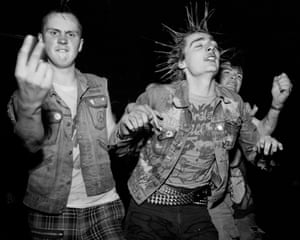 'No glue, no glass bottles' … punks at the Station, Gateshead, in 1985.