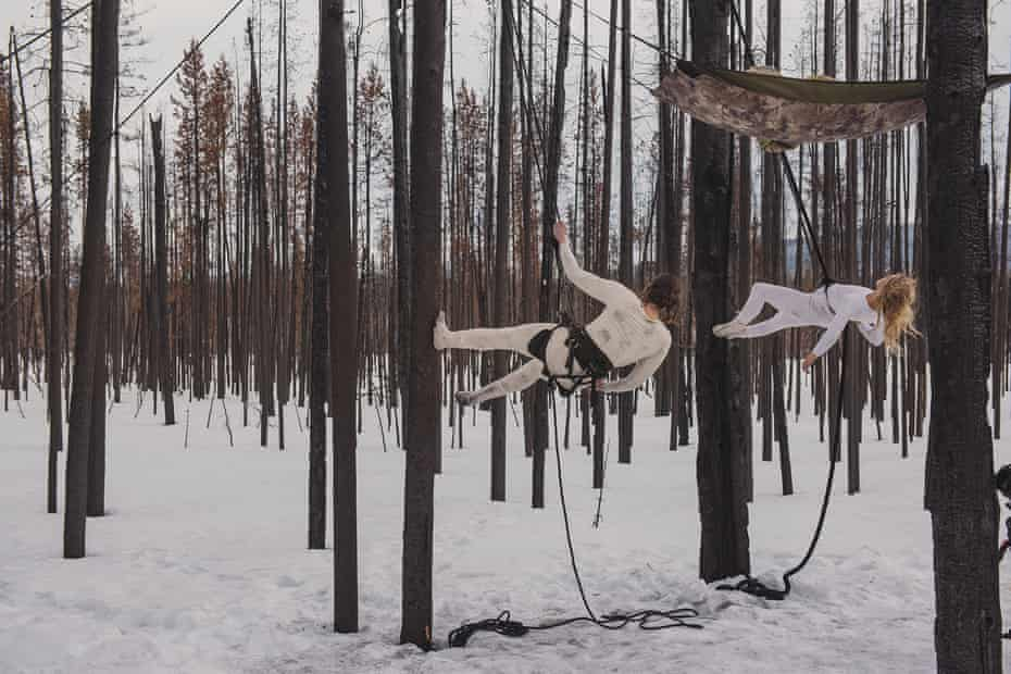 Trackers … a still from Matthew Barney, Redoubt, 2018.