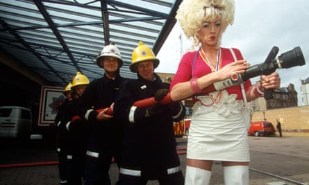 Front page news … Lily Savage turned a fire-eating calamity into a PR coup.