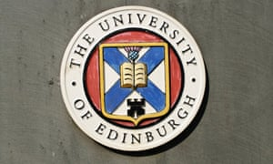 Crest of The University of Edinburgh. The incoming vice Chancellor, Peter Mathieson, has been criticised by professors at his previous post at the University of Hong Kong.