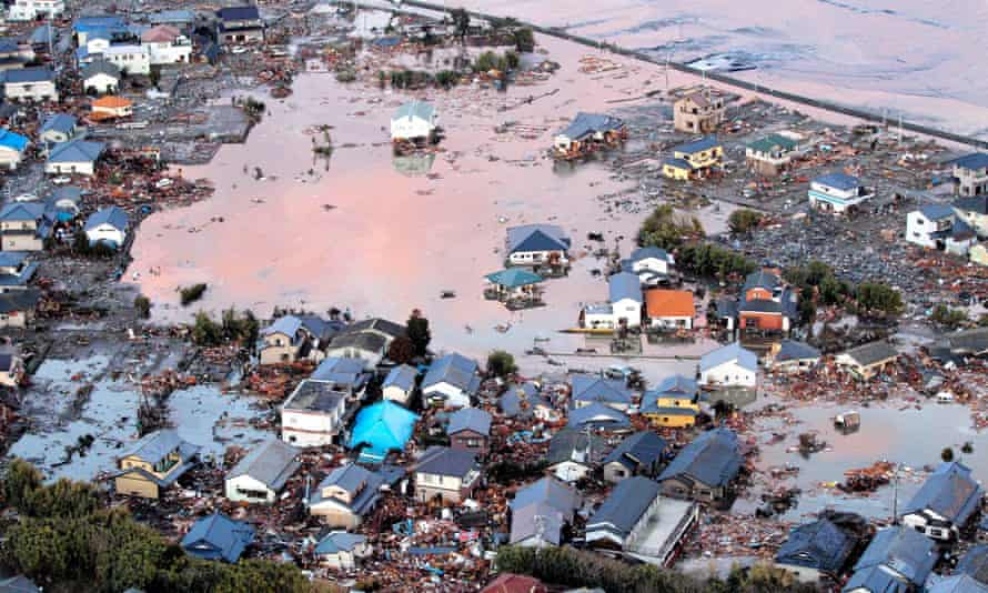Thousands of houses were destroyed by the 2011 tsunami in Japan.