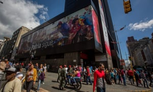 People make a line outside a bank in Caracas, Venezuela Thursday.